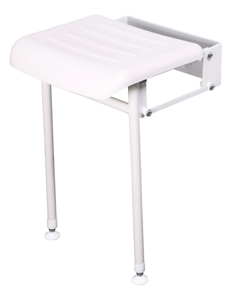 Nymas Wall-Mounted Compact Shower Seat White