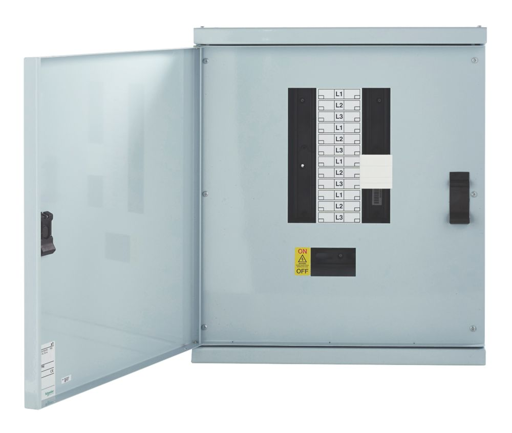 Schneider Electric KQ 8-Way Non-Metered 3-Phase Loadcentre Distribution Board