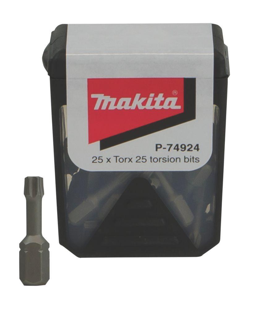 Makita Torsion Screwdriver Bit Box TX25 x 25mm 25 Pack