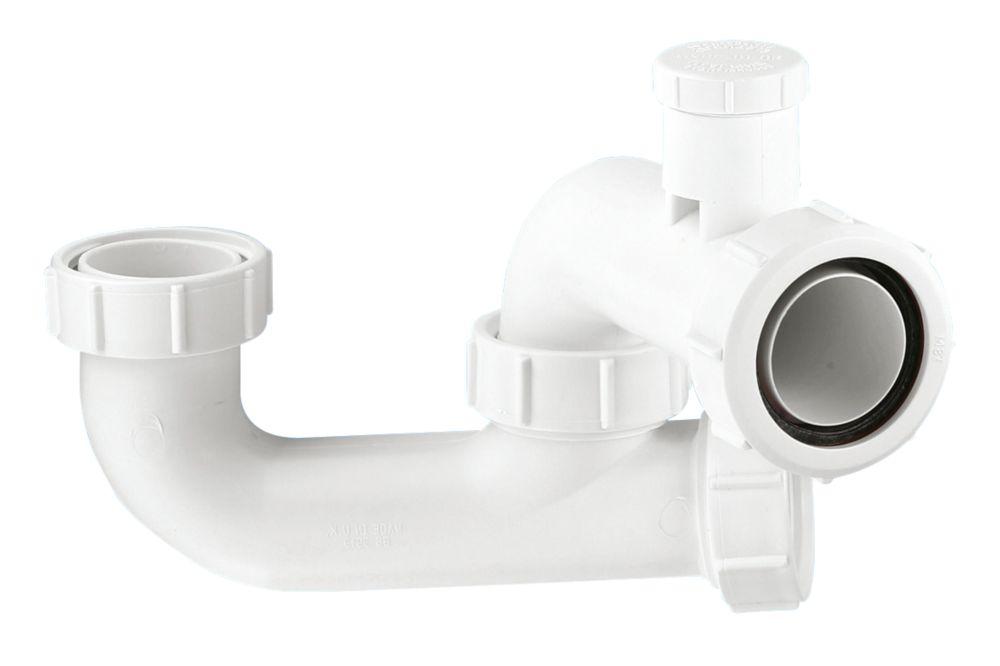 """McAlpine 1½"""" Anti-Siphon Bath P Trap White 40mm"""