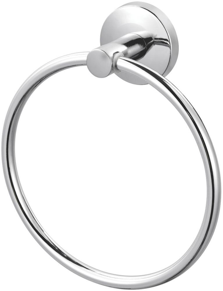 Cooke & Lewis Charm Towel Ring Chrome 165 x 58 x 165mm