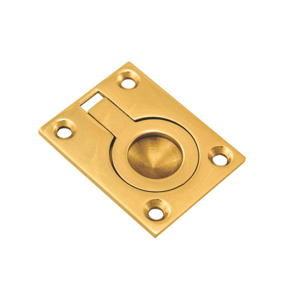 Carlisle Brass Flush Ring Pull 63mm Polished Brass