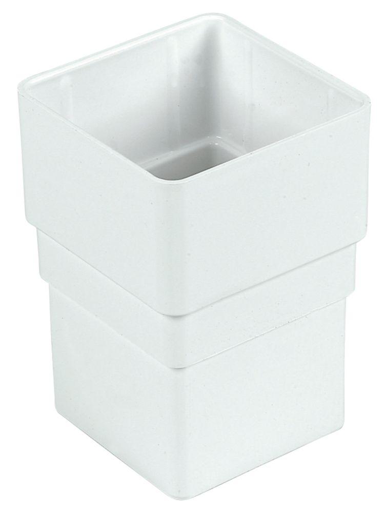 FloPlast Square Line Drainage Socket 65mm White