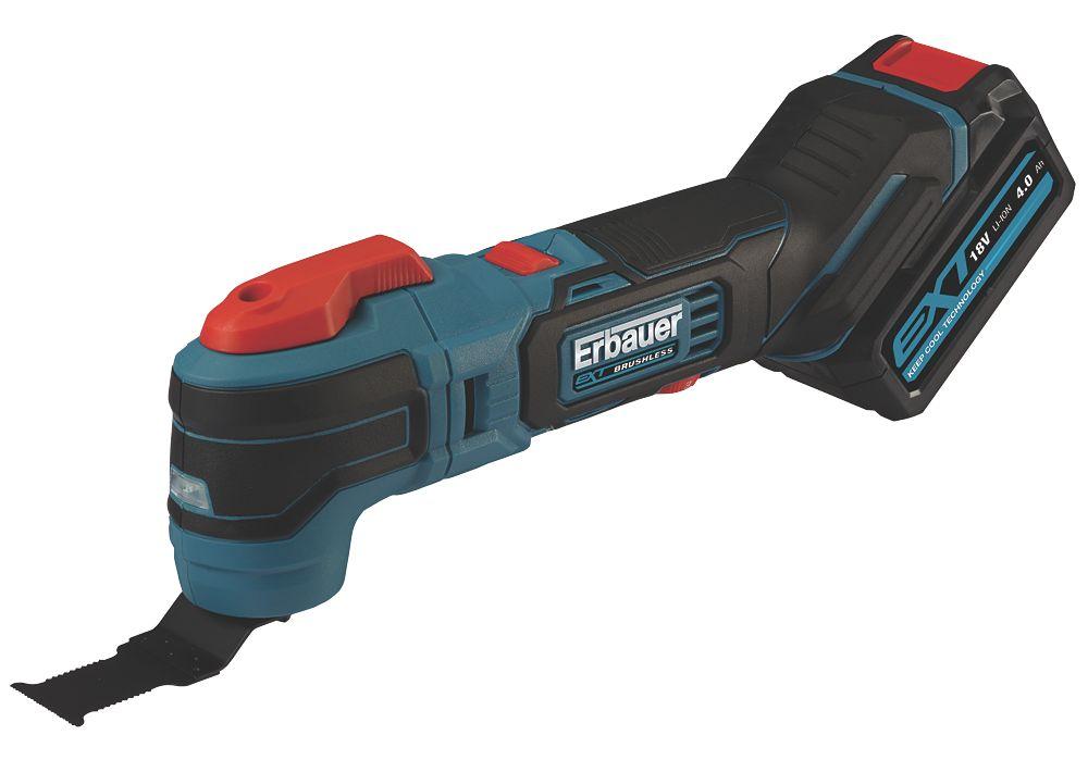 Erbauer EMT18-Li-QC 18V 4.0Ah Li-Ion EXT Brushless Cordless Multi-Tool