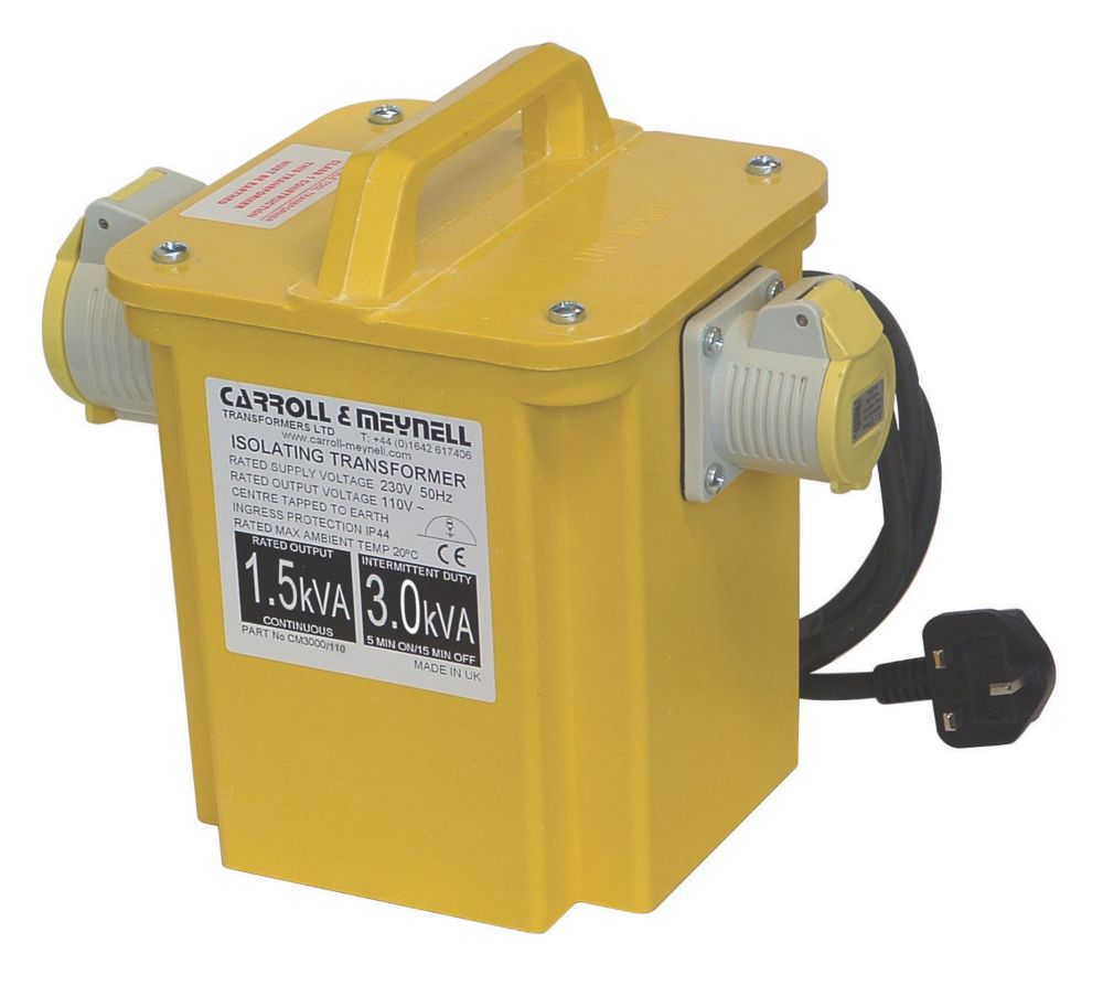 Carroll & Meynell  3000VA Intermittent Step-Down Transformer 230V/110V