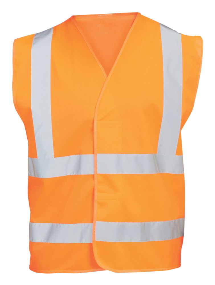 """Hi Vis Waistcoat Orange Small / Medium 48¾"""" Chest"""