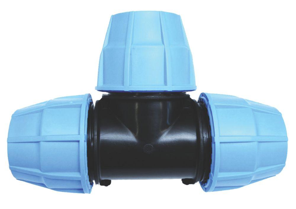 FloPlast MDPE Equal Tee 25 x 25 x 25mm