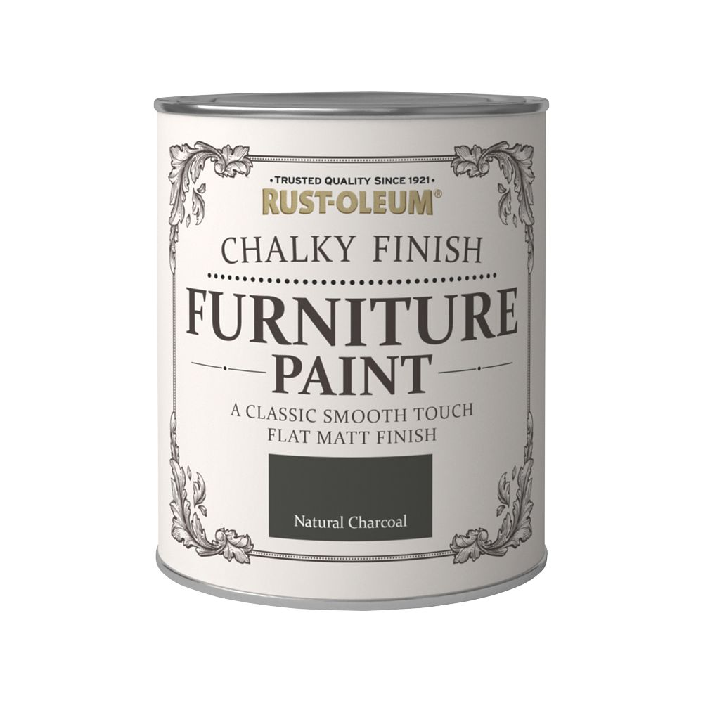 Rust-oleum Universal Furniture Paint Chalky Natural Charcoal Black 750ml