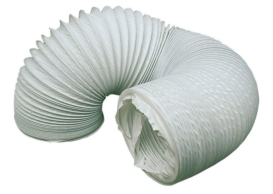 Manrose PVC Flexible Ducting Hose White 1m x 100mm