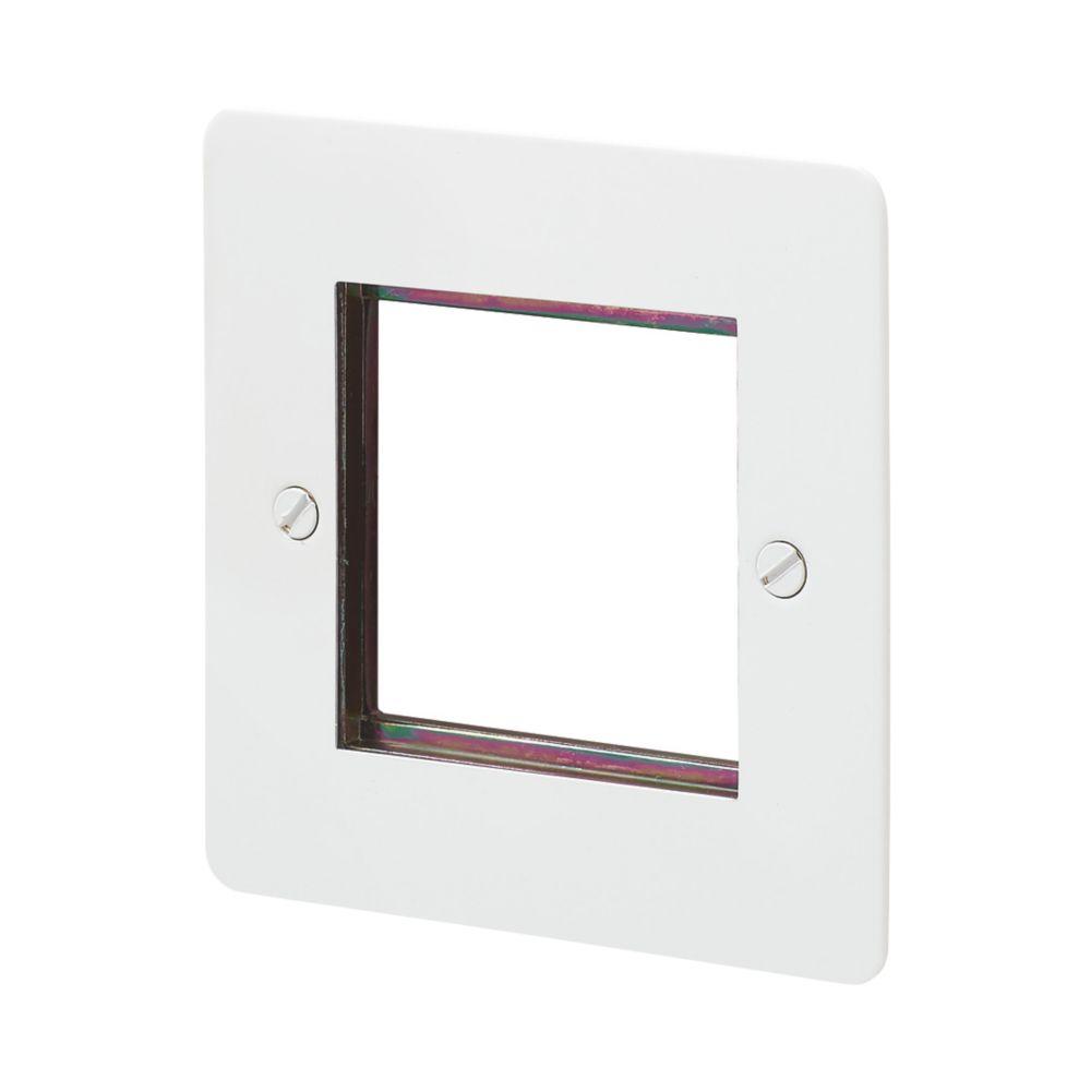 MK Edge 2-Module Modular Light Switch Surround White
