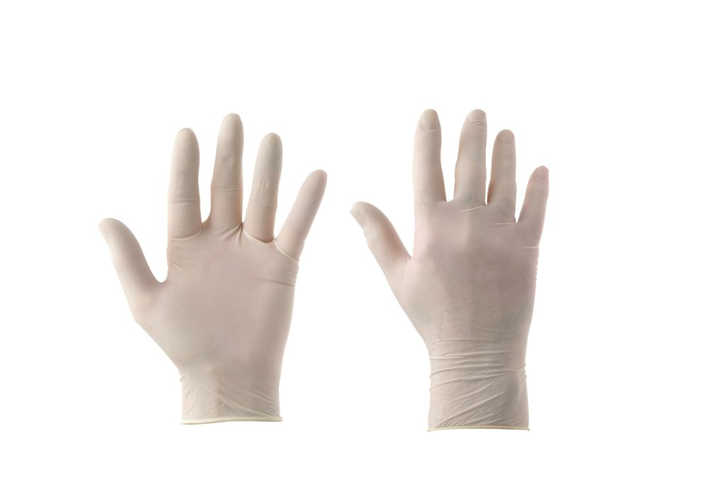 KeepClean  Latex Powdered Disposable Gloves White Large 100 Pack