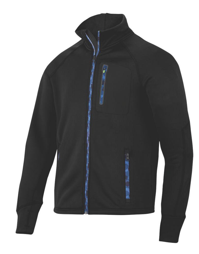 "Snickers FlexiWork Stretch Fleece Jacket Black Large 43"" Chest"