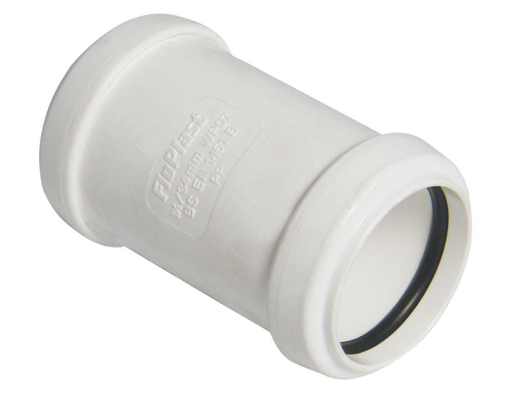 FloPlast Push-Fit Straight Coupler White 40 x 40mm