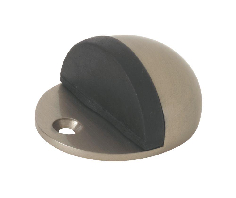 Oval Door Stops Satin Nickel 2 Pack