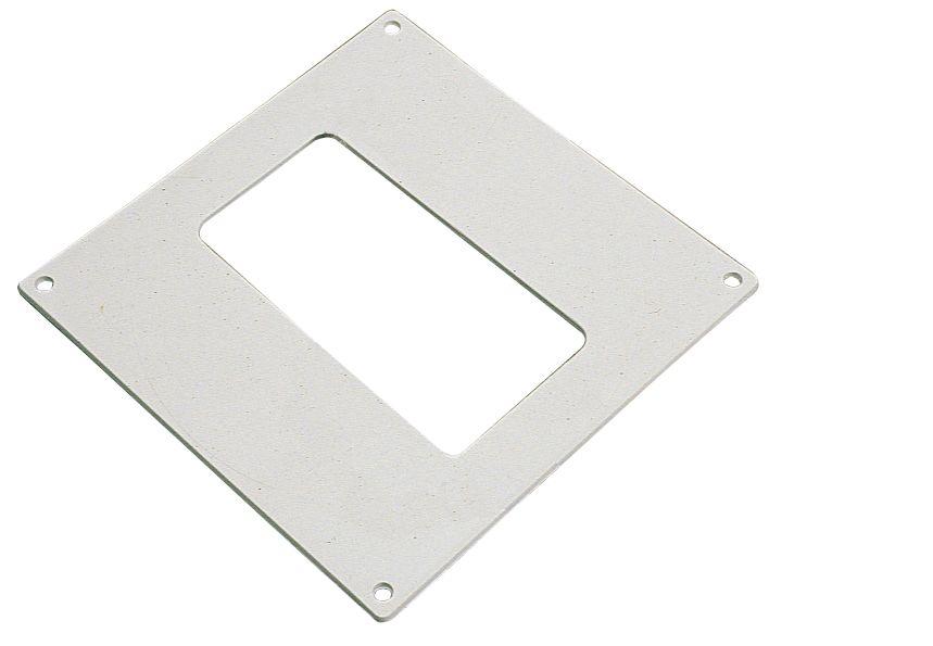 Manrose Rectangular Wall Plate White 100mm