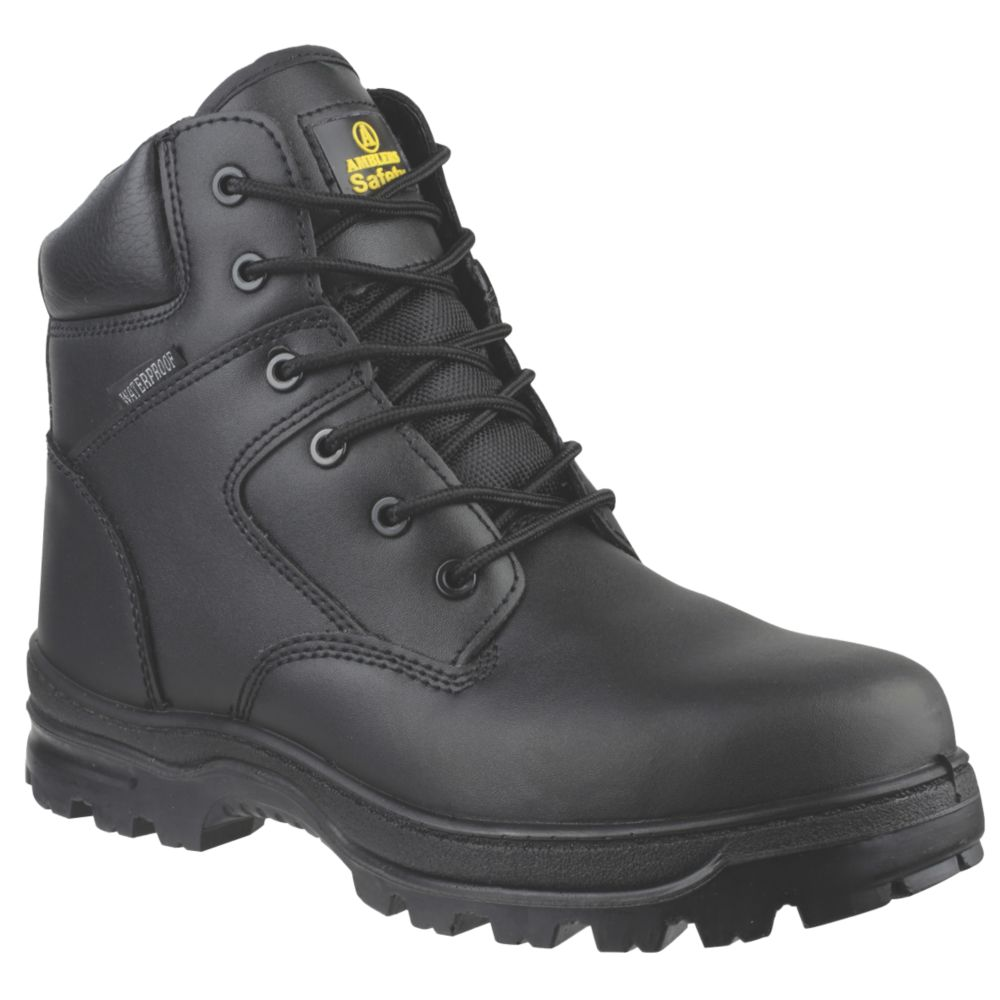 Amblers FS006C Metal Free  Safety Boots Black Size 4