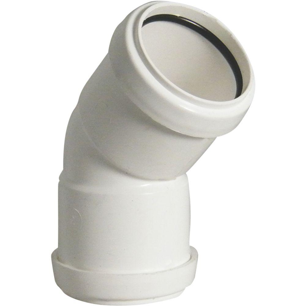 FloPlast Push-Fit Obtuse Bend White 135 (45)° 40mm