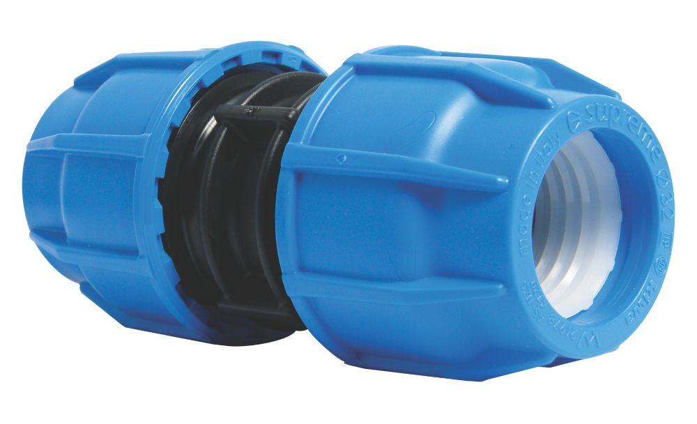 FloPlast 492012 MDPE Coupler 25mm x 25mm