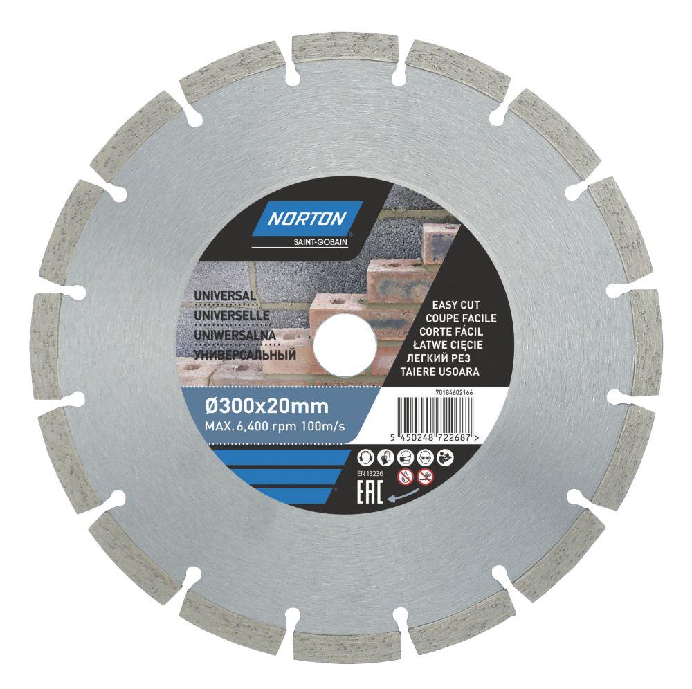 Norton  Masonry/Stone Segmented Diamond Cutting Blade 300 x 20mm