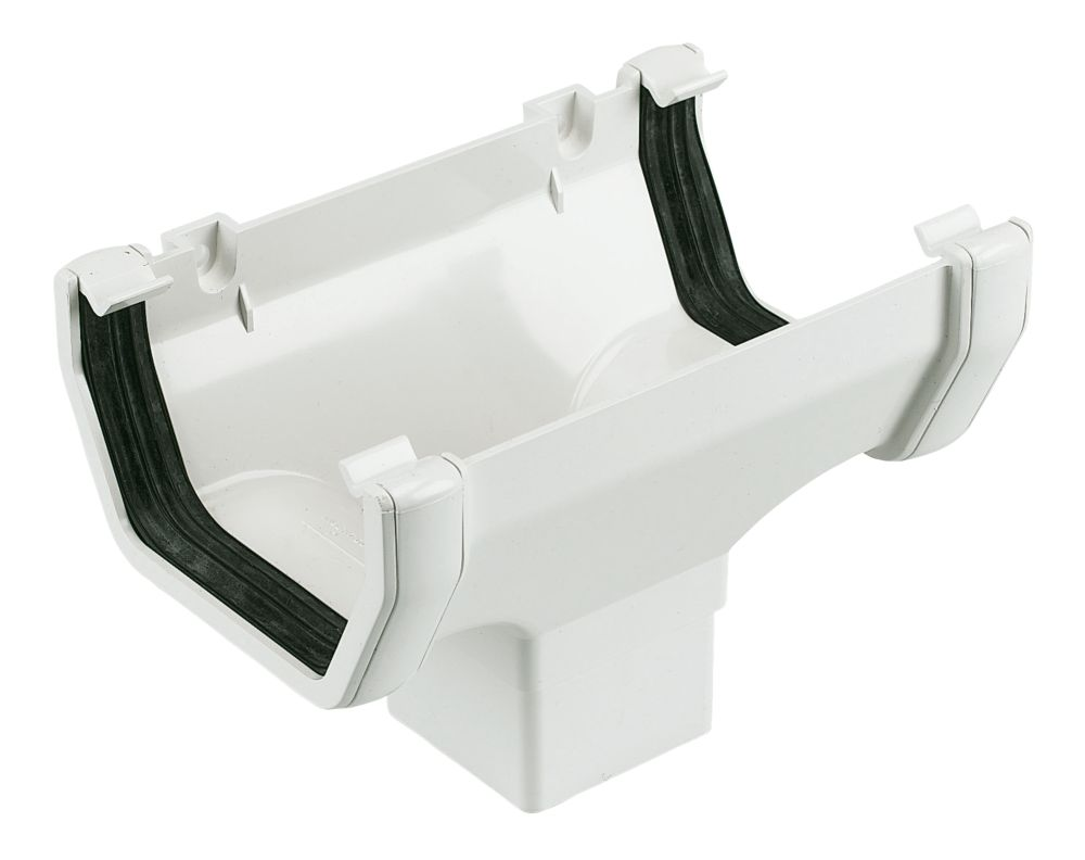 FloPlast Square Line Running Outlet 114mm White