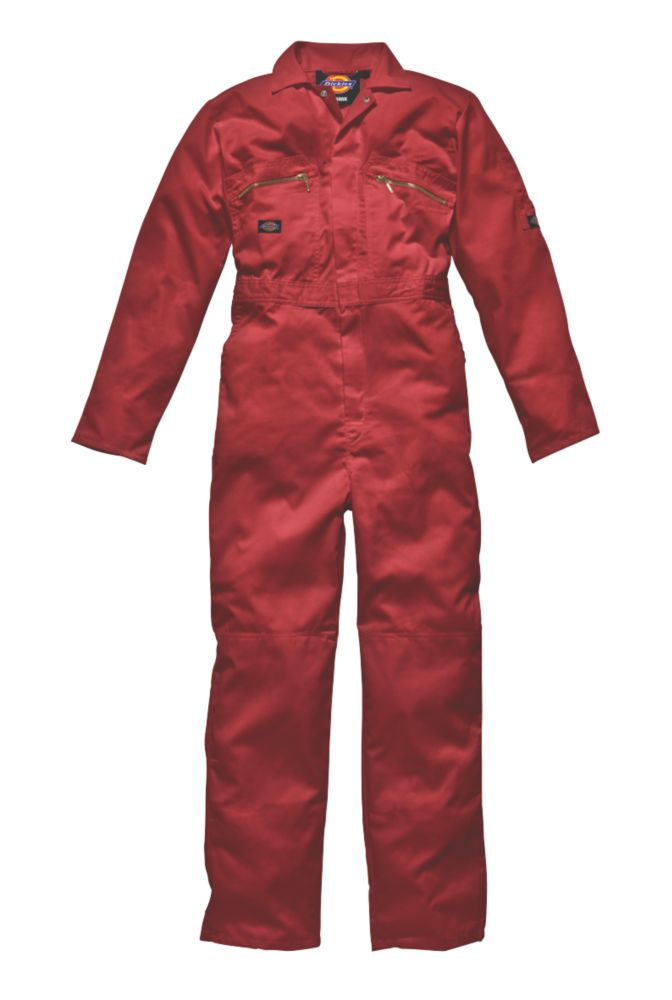"""Dickies Redhawk Zip Front Coverall Red X Large 46"""" Chest 30"""" L"""