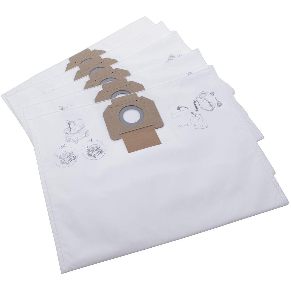 Nilfisk Attix 33/44 33-2L IC 50, 55Ltr Vacuum Fleece Filter Bags 5 Pack