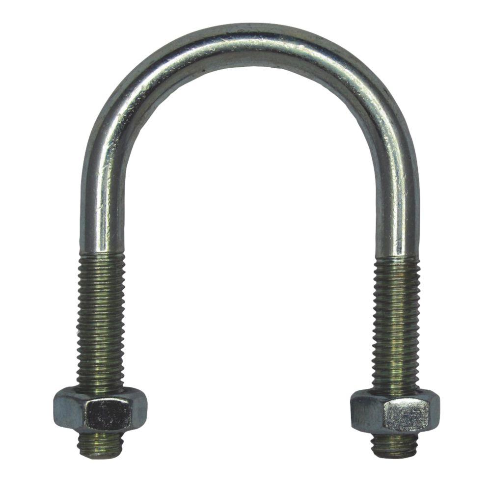Rawlplug  Bright Zinc-Plated Steel U Bolt M8 x 62mm