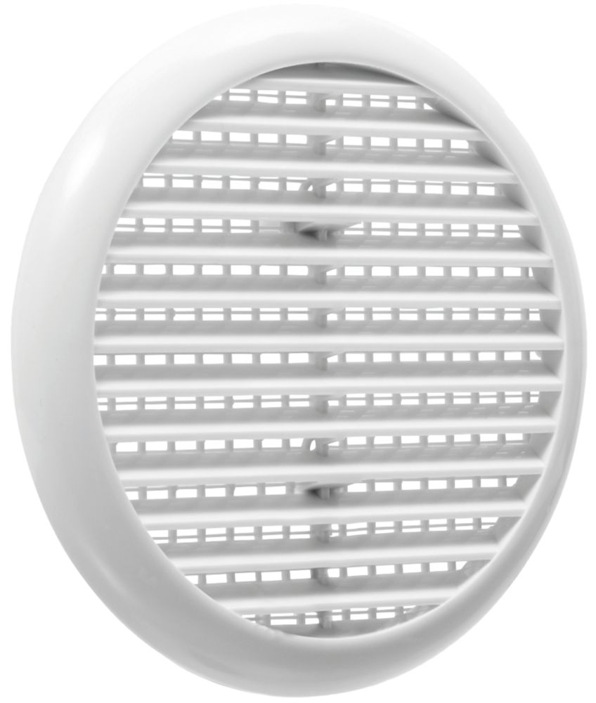 Map Vent Fixed Louvre Vent with Flyscreen White 145 x 145mm