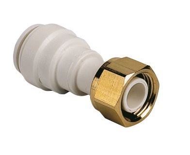 "JG Speedfit  Plastic Push-Fit Straight Tap Connector 22mm x ¾"""