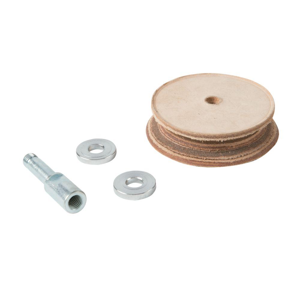 Triton Profiled Leather Honing Wheel
