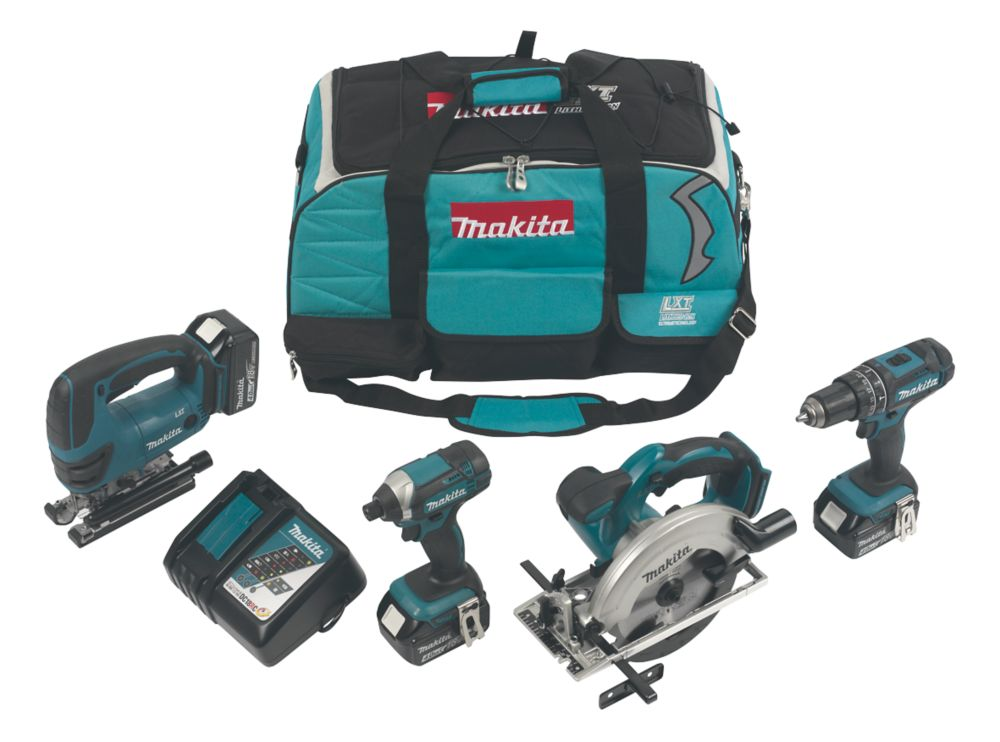 Makita DLX4088MX1 18V 4.0Ah Li-Ion   Cordless 4-Piece Power Tool Kit