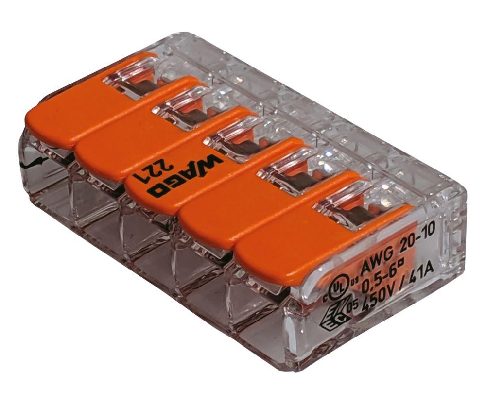 Wago  41A 5-Way Lever Connectors 15 Pack