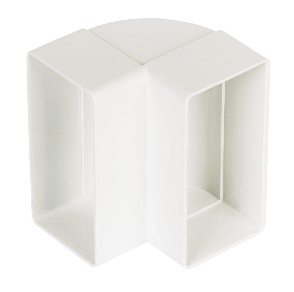 Manrose Rectangular 90° Vertical Bend White 100mm
