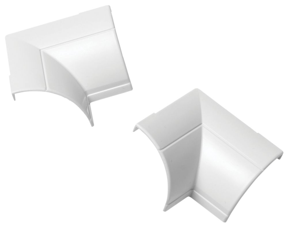 D-Line ¼-Round Internal Clip-Over Bend 22 x 22mm 2 Pack