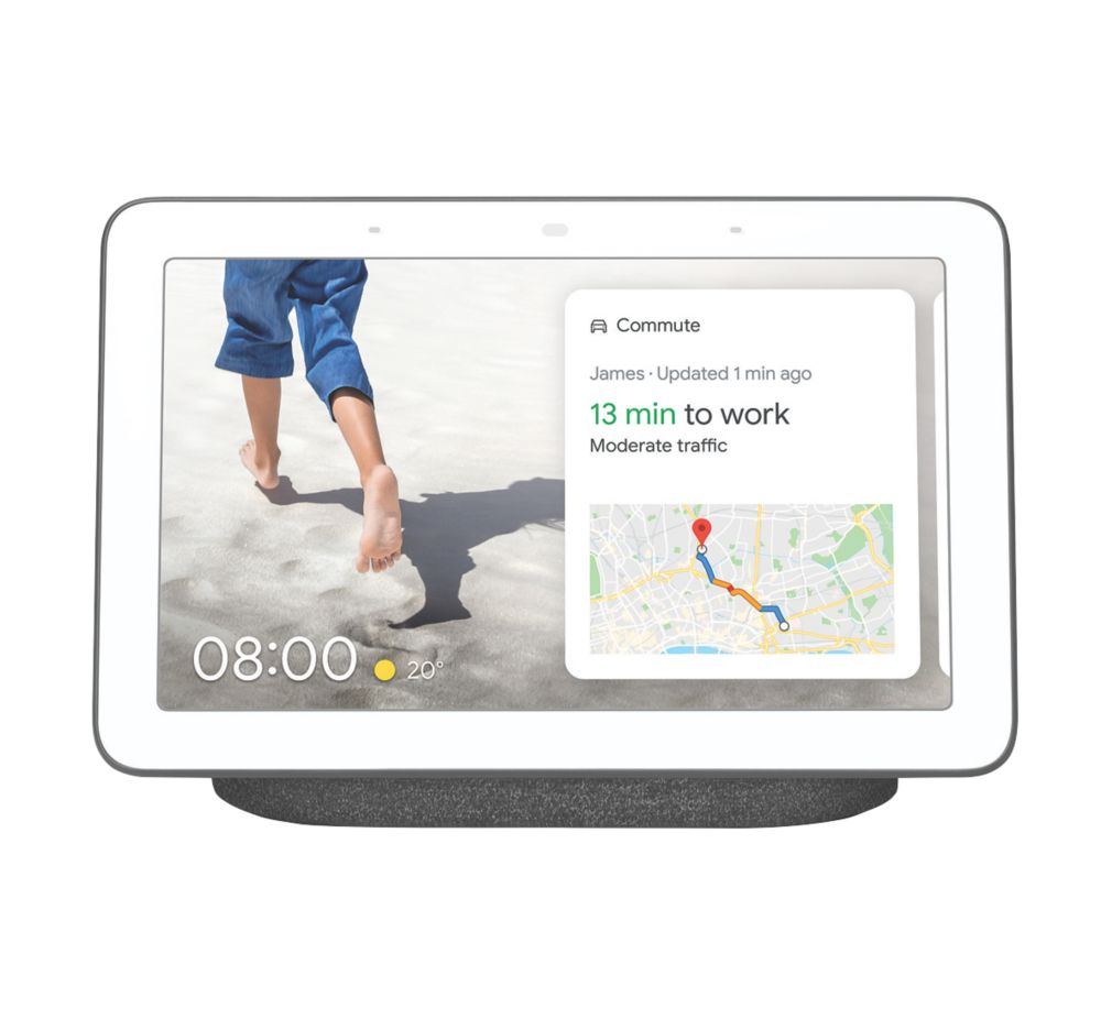 Google Nest Home Hub Voice Assistant with Screen Charcoal