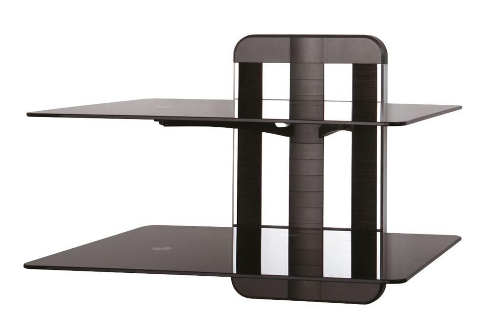 AVF Unimax ZMS1200 2-Tier TV Accessory Shelf Black