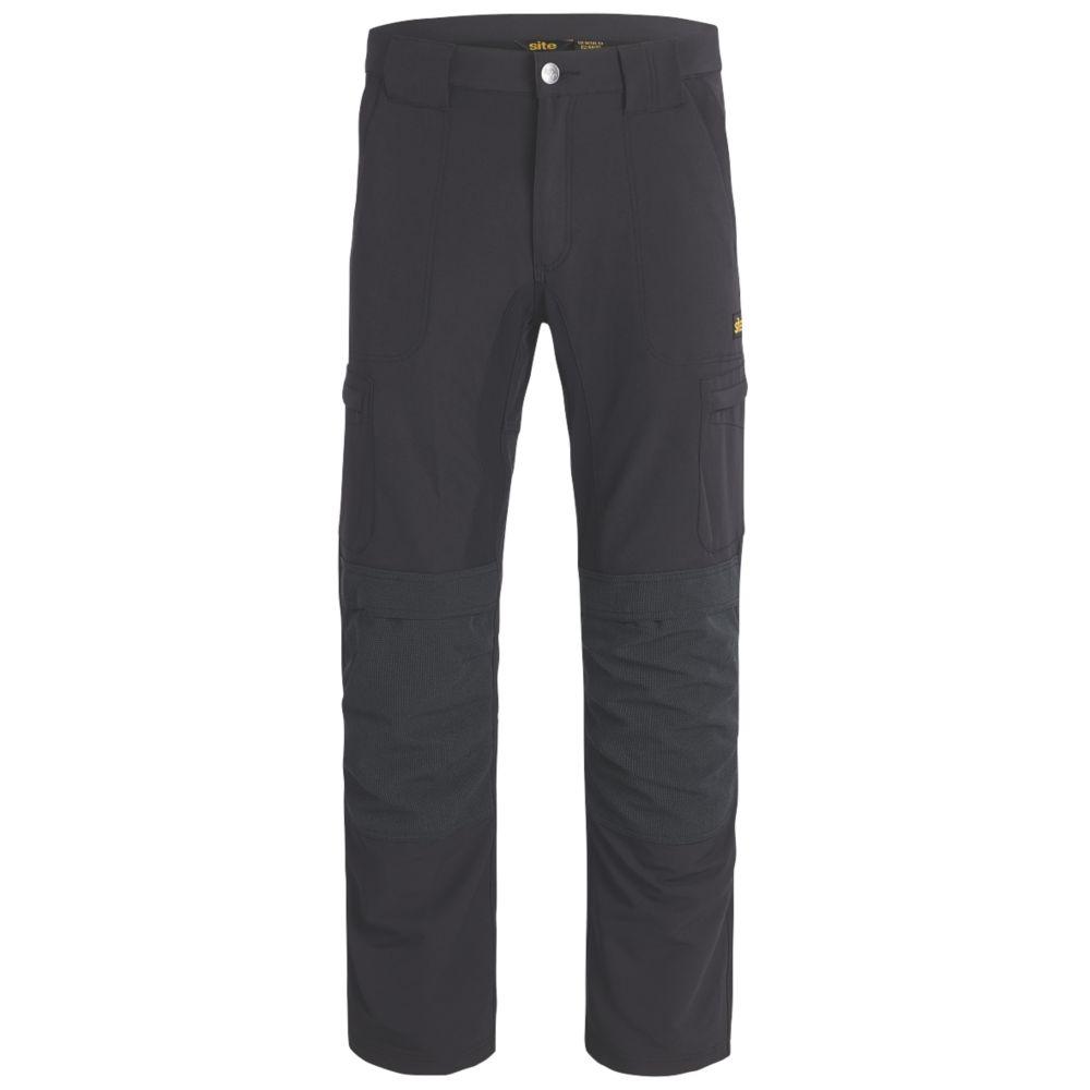 "Site Telomian Multi-Pocket Work Trousers Black 30"" W 32"" L"