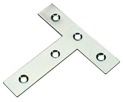 Tee Plates Zinc-Plated 77 x 16 x 76mm 10 Pack