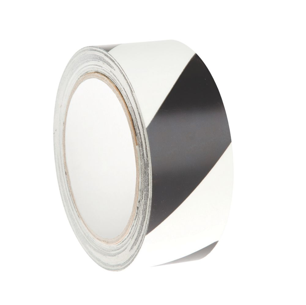 Nite-Glo Chevron Safety Tape Luminescent / Black 10m x 40mm
