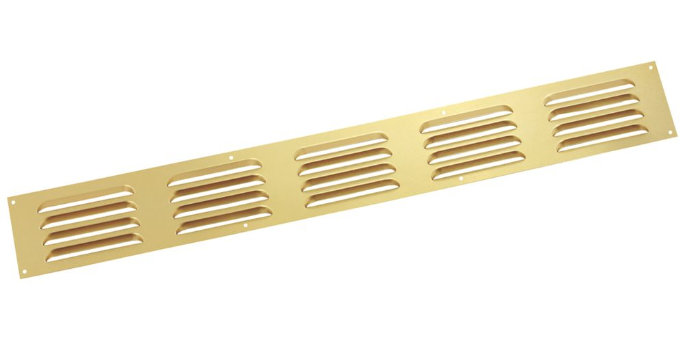 Map Vent Fixed Louvre Vent Gold 466 x 51mm