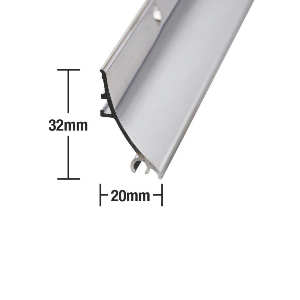 Stormguard Rain Deflector Polished Aluminium 0.84m