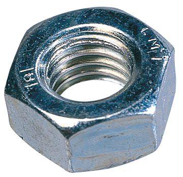 Easyfix BZP Steel Hex Nuts M10 100 Pack