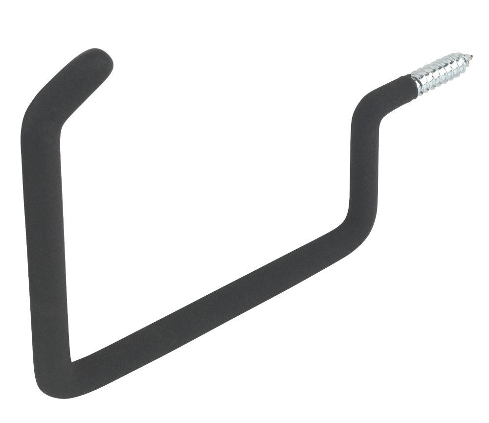 Smith & Locke Heavy Duty Screw-In Anti-Slip Square Storage Hook Black 158mm