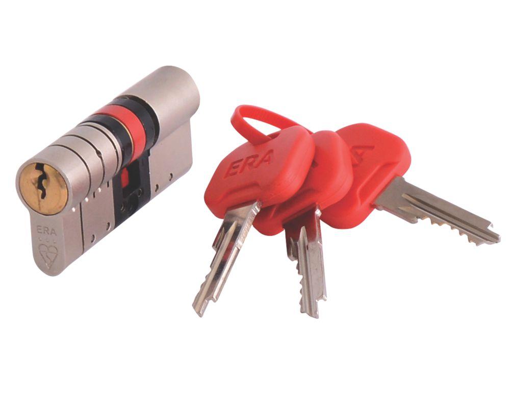 ERA  Euro Double Cylinder Door Lock 40-55 (95mm) Satin Nickel/Brass