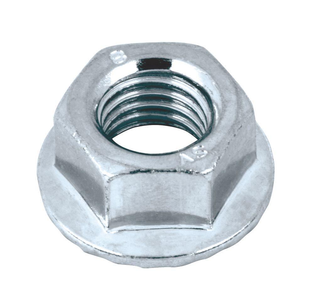 Easyfix BZP Carbon Steel Flange Head Nuts M10 100 Pack