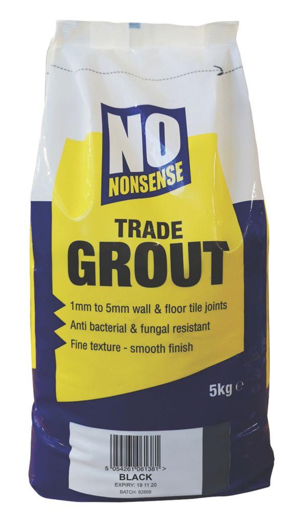 No Nonsense  Wall & Floor No Mould Grout Black 5kg