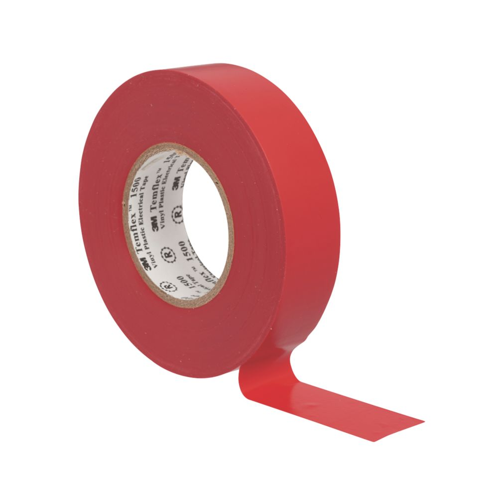 3M Temflex Insulating Tape Red 25m x 19mm