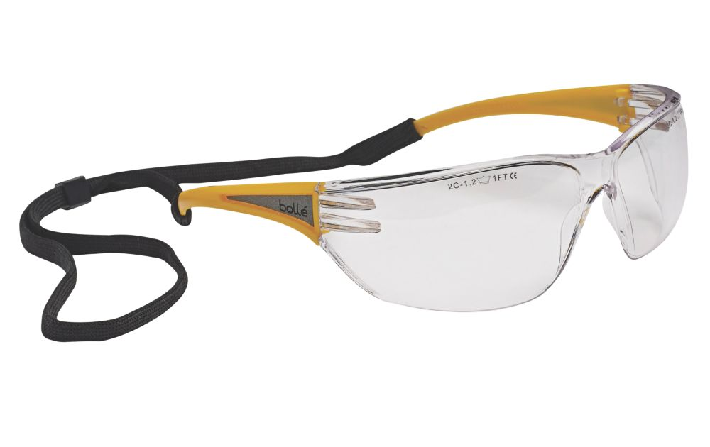 Bolle Slam Clear Lens Yellow Temple Safety Specs