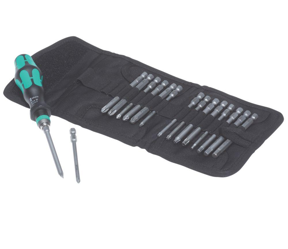 Wera Kraftform Kompakt Interchangeable Screwdriver Bit Set 17 Pieces