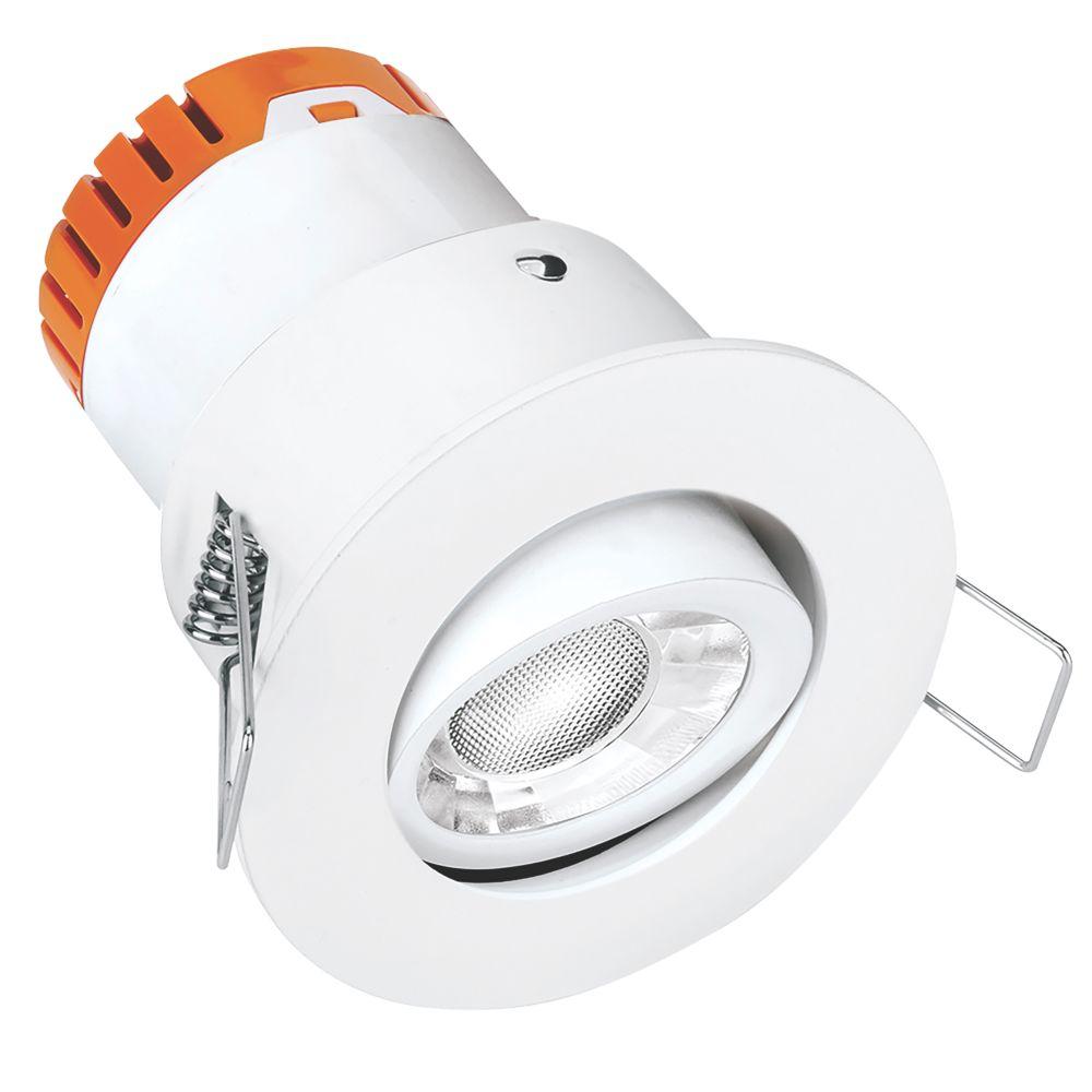 Enlite E5 Adjustable  Fire Rated LED Downlight White 440lm 4.5W 220-240V